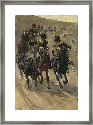 The Yellow Riders, George Hendrik Breitner, 1885 - 1886 Framed Print