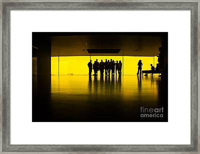 The Yellow Room Guthrie Theater Minneapolis  Framed Print by Wayne Moran