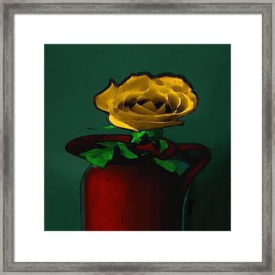 The Yellow Rose Painting Framed Print