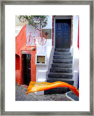 Framed Print featuring the photograph The Yellow Scarf by Ana Maria Edulescu
