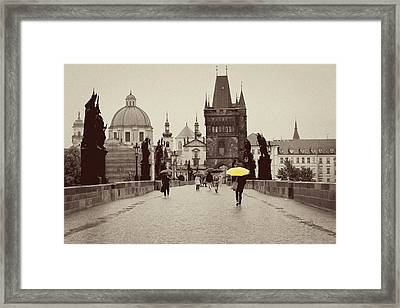 The Yellow Umbrella For Erin Framed Print