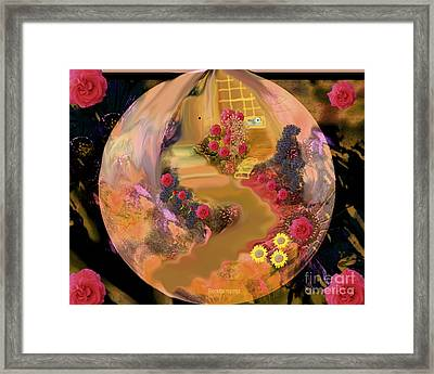 The Yettle Yellow House Framed Print