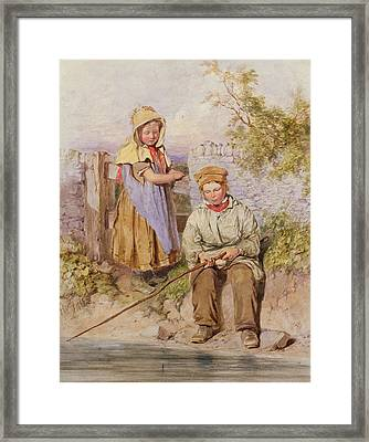 The Young Anglers Framed Print by James Hardy Junior