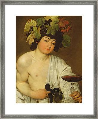 The Young Bacchus Framed Print by Caravaggio