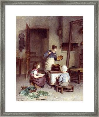 The Young Cook Framed Print