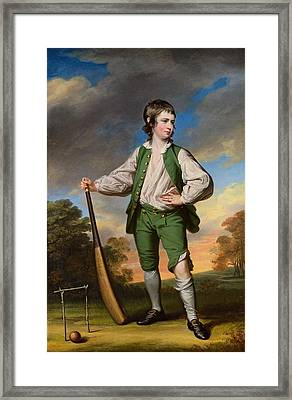 The Young Cricketer  Portrait Of Lewis Cage Framed Print