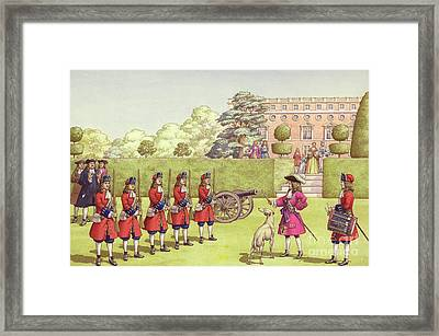 The Young Duke Of Gloucester Had His Own Army To Play With Framed Print by Pat Nicolle