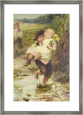 The Young Gallant Framed Print by Fred Morgan