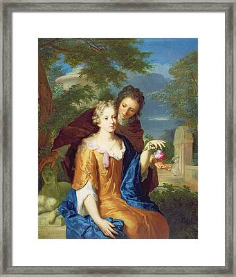 The Young Lovers Framed Print by Gerard Hoet