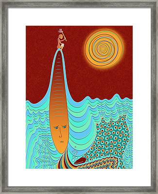 The Young Man And The Sea Framed Print