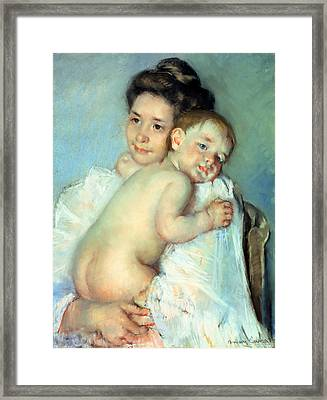 The Young Mother Framed Print by Mary Stevenson Cassatt