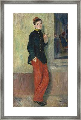The Young Soldier Framed Print by Auguste Renoir