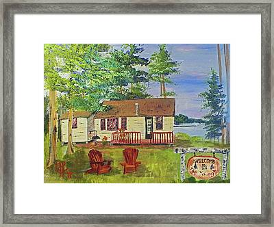 The Young's Camp Framed Print