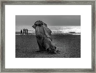 The Youth And The Horsehead Framed Print