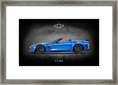 The Z06 Framed Print by Mark Rogan