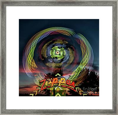 The Zipper Motion Art By Kaylyn Franks Framed Print