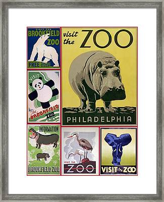 The Zoo 1930s And 1940s Poster Art Framed Print
