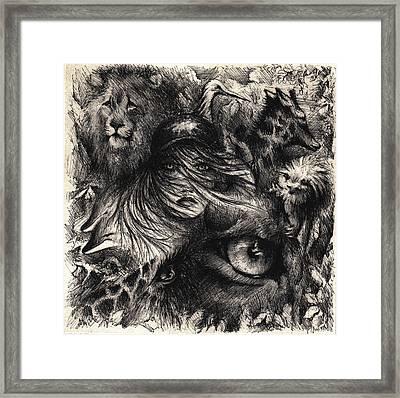 The Zoo Girl Framed Print