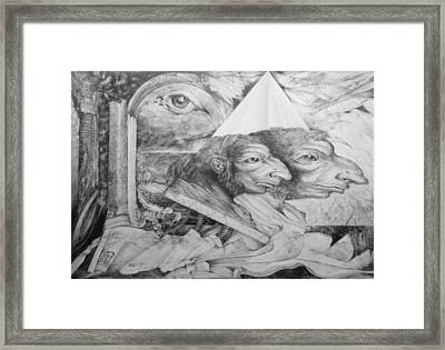 The Zwerg Nase Twins Dreaming Of World Domination Framed Print