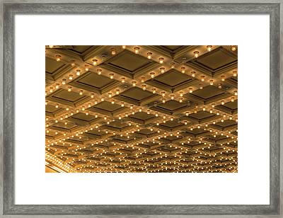 Theater Ceiling Marquee Lights Framed Print by David Gn