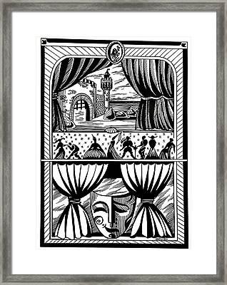 Theater Framed Print by Inga Vereshchagina