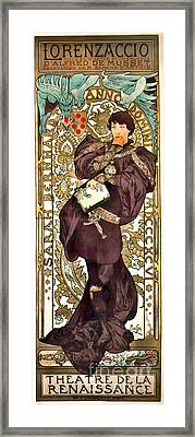 Theater Playbill 1896 Framed Print by Padre Art