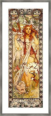 Theater Playbill 1909 Framed Print by Padre Art