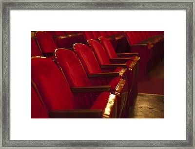 Theater Seating Framed Print by Carolyn Marshall