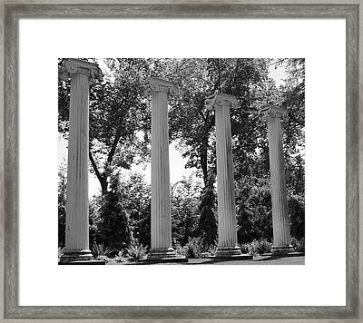 Theatre Columns Framed Print by Sonja Anderson