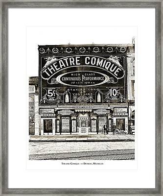 Theatre Comique Framed Print