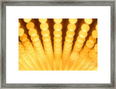 Theatre Lights Defocused Framed Print by Paul Velgos