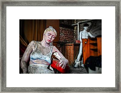 Theatre Puppets - Abandoned Places Framed Print by Dirk Ercken