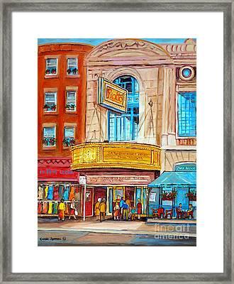 Theatre Rialto Ave. Du Parc Montreal Framed Print by Carole Spandau