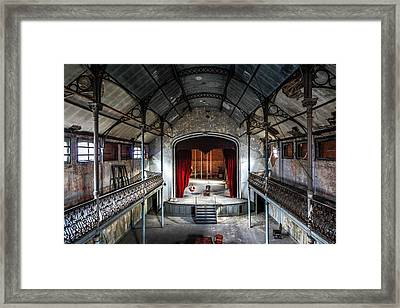 Theatre Scene And Balcony - Urban Decay Framed Print by Dirk Ercken