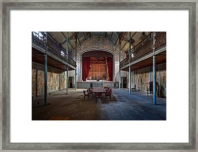 Theatre Scene - Urban Decay Framed Print by Dirk Ercken