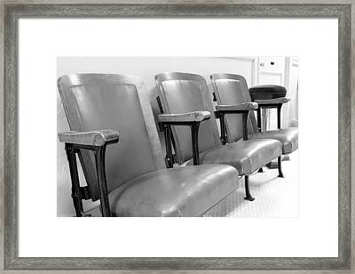 Theatre Seats Framed Print
