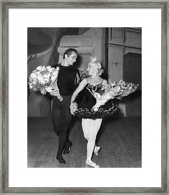 Theatrical Performance Bow Framed Print by Underwood Archives