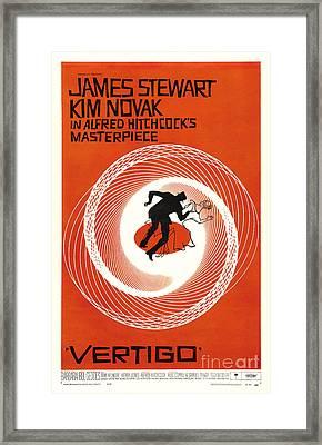 Theatrical Poster Of Vertigo Framed Print by Celestial Images
