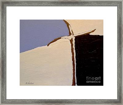 Thee Cross Abstract Lll Framed Print by Marsha Heiken
