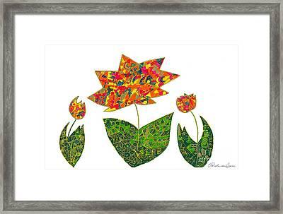 Three Jewel Bloom Framed Print by Pamela Von Gizycki