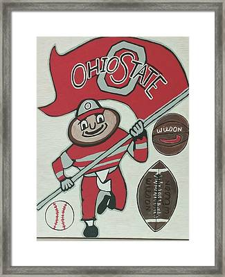 Thee Ohio State Buckeyes Framed Print