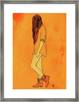 Theese Boots... Framed Print by Giuseppe Cristiano