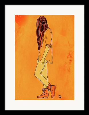 Boots Drawings Framed Prints