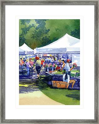 Theinsville Farmers Market Framed Print