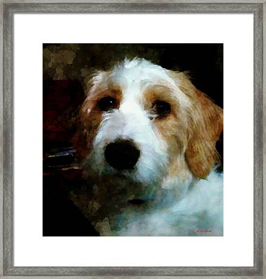 Their Dog Framed Print by Margaret Wingstedt