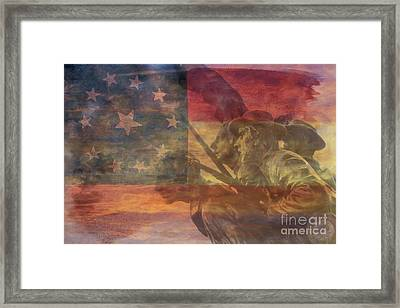 Their Final Charge At Gettysburg Framed Print