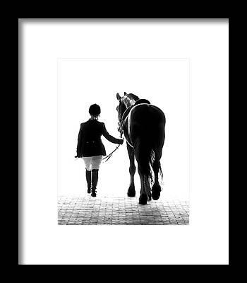 Dressage Horse Framed Prints