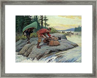 Their Lucky Day Framed Print by Philip R Goodwin