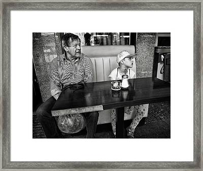 Their Special Day Out, Together Framed Print by Michel Verhoef