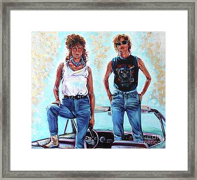 Thelma And Louise Framed Print